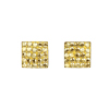naušnice ze SWAROVSKI ELEMENTS čtverec parts 8mm crystal golden shadow Ag 925/1000