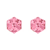 náušnice ze SWAROVSKI ELEMENTS kostka 6mm v barvě light rose