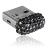 paměťové medium USB mix parts ze SWAROVSKI ELEMENTS 8 GB jet hematite